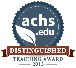 Distinguished Teacher Award