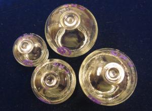 Glass fire cups