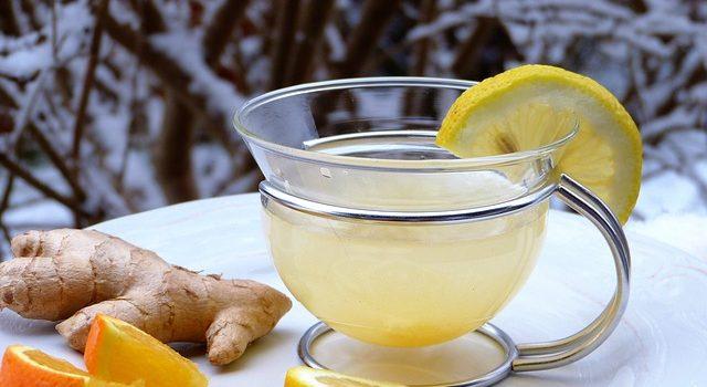 Cup of lemon ginger tea